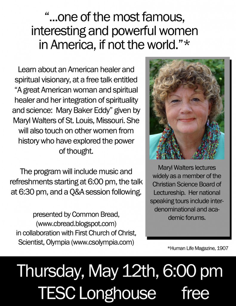 TESC lecture - Mary Baker Eddy