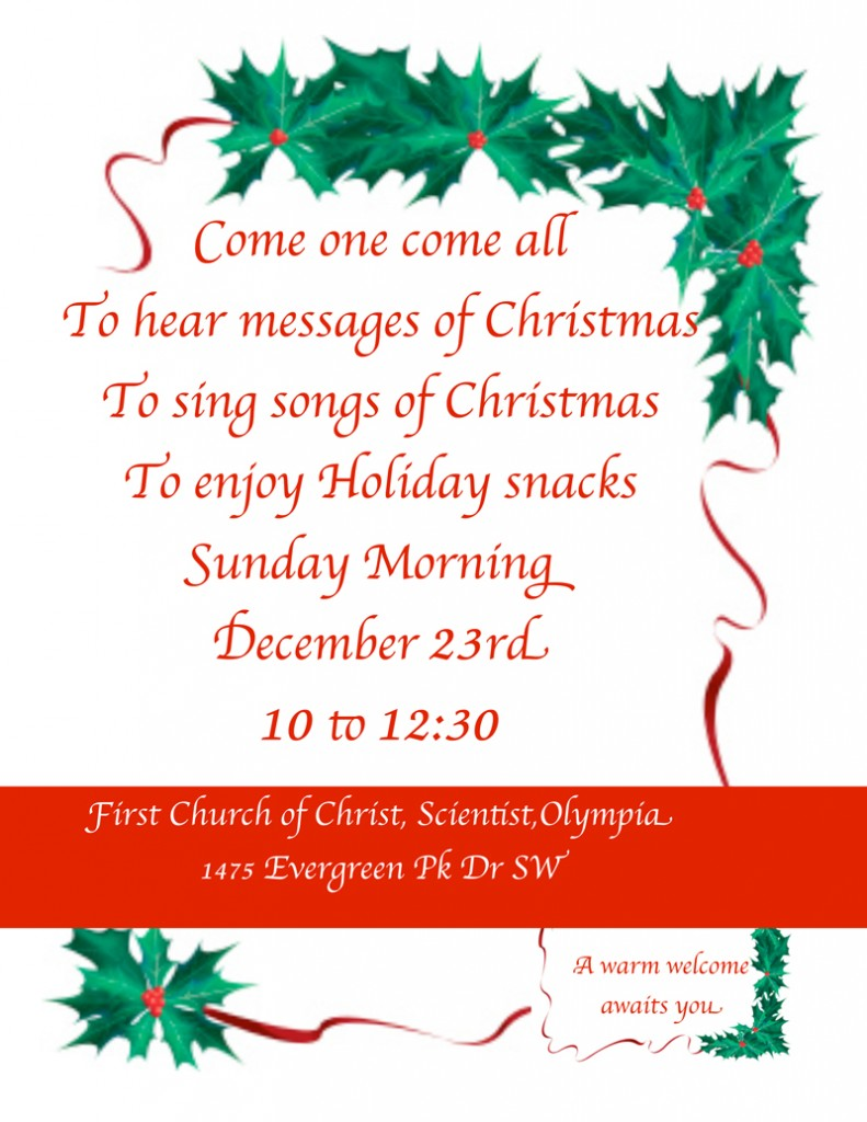 Christmas church service & carol sing invitation